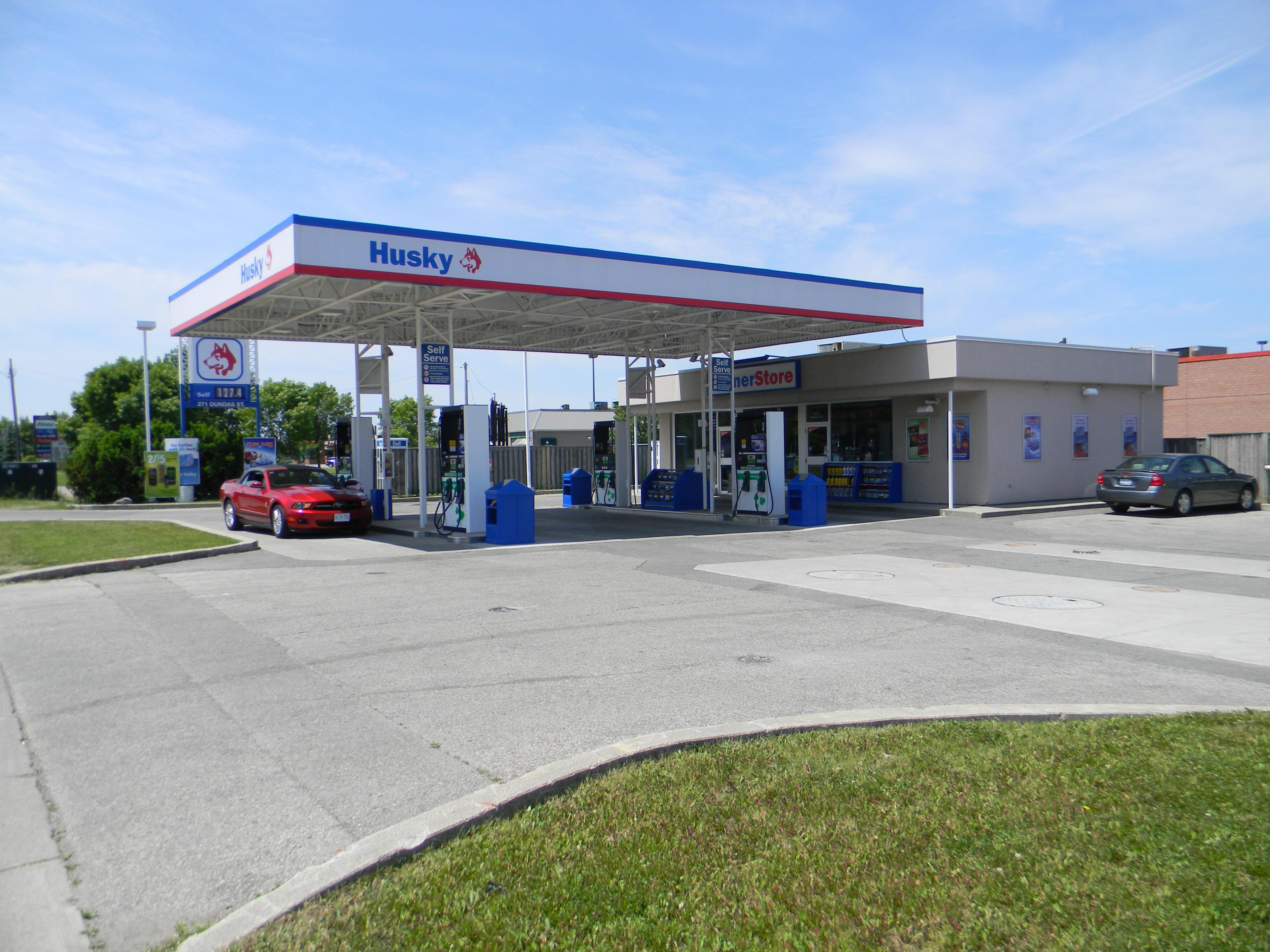 gas station husky gas station