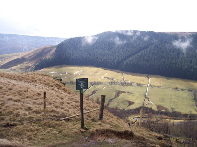 Waymarker,Alport Castles Path - geograph.org.uk - 741803