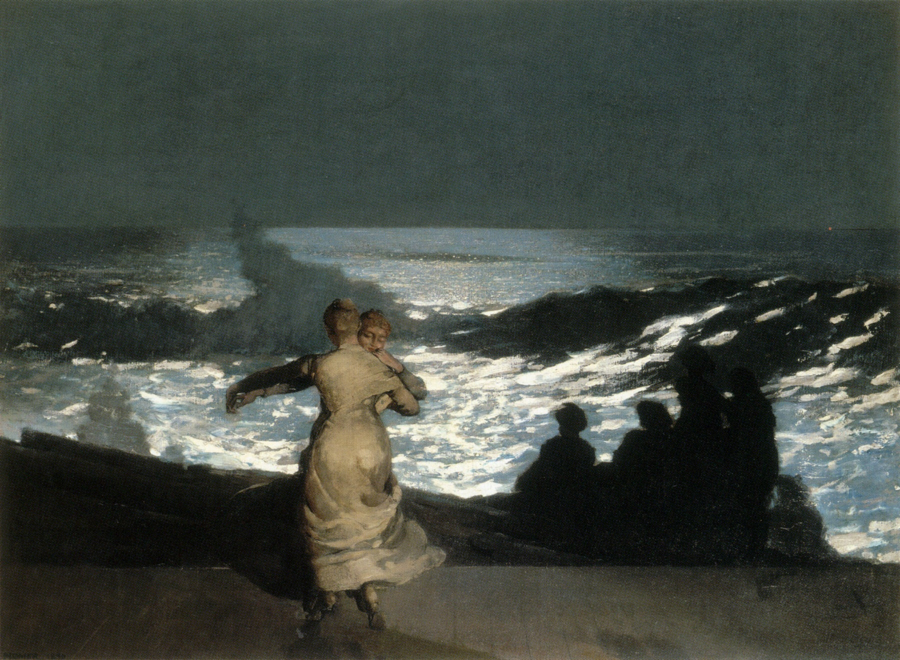 Nocturnal - the best nocturne paintings: Winslow Homer, Summer Night,