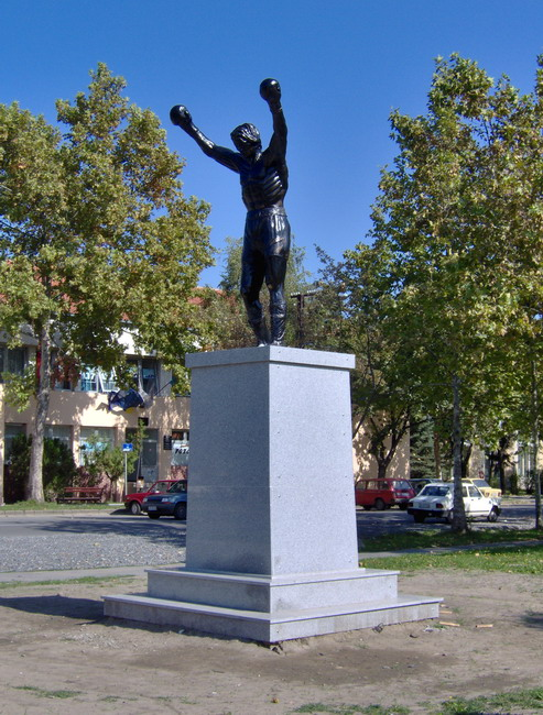 Rocky statue in Žiti�...