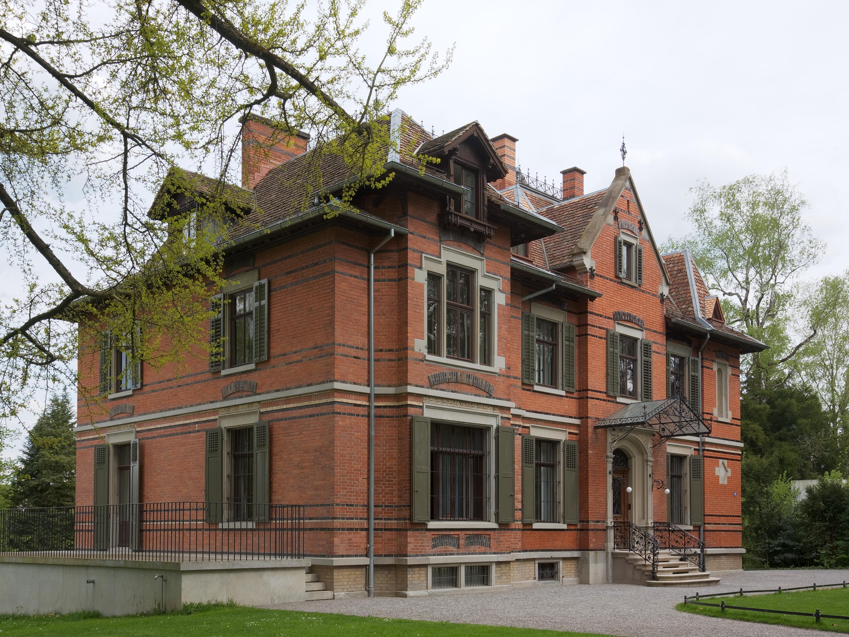La casa de Villa Wesendonck donde Wagner residió en Zúrich durante cinco años.