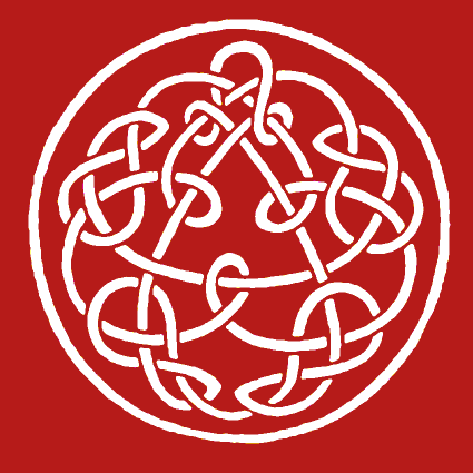 "Later versions of Discipline featured this design by Steve Ball. ""Possible Productions knotwork"" by Steve Ball.png"
