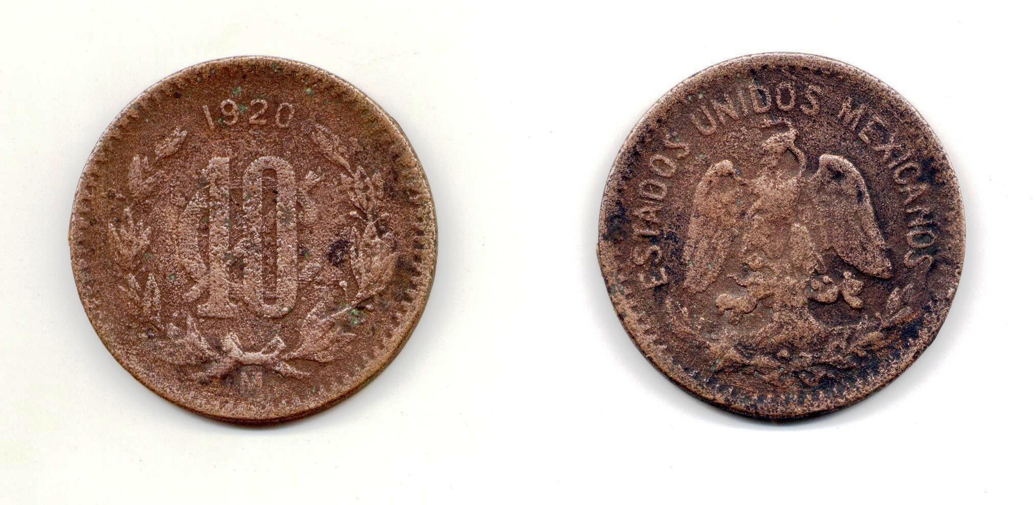 Monedas de 10 Centavos Mexico File:10 Centavos de México de