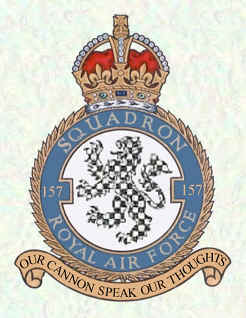 No. 157 Squadron RAF Defunct flying squadron of the Royal Air Force