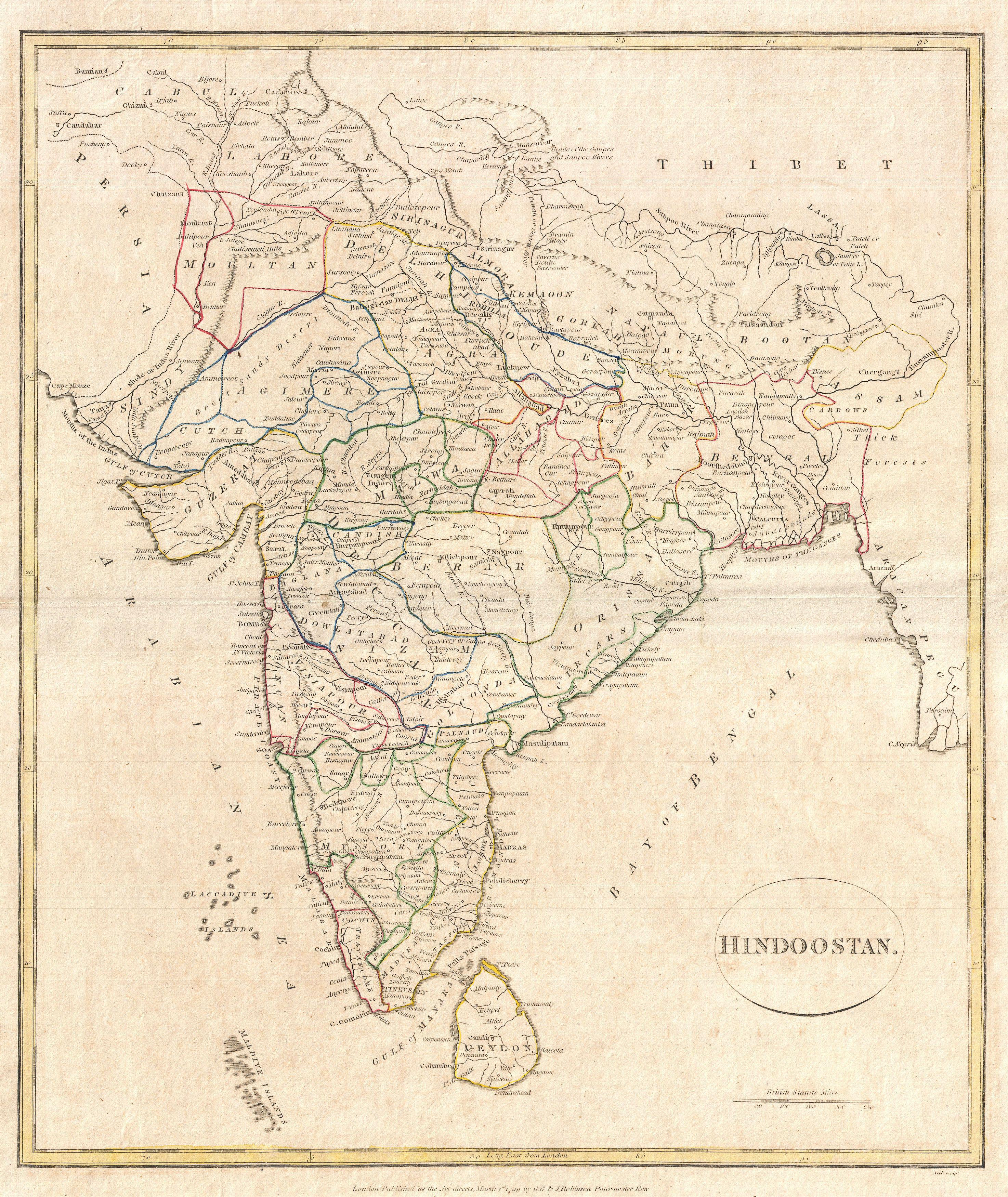 File 1799 Clement Crutwell Map Of Hindoostan Geographicus India