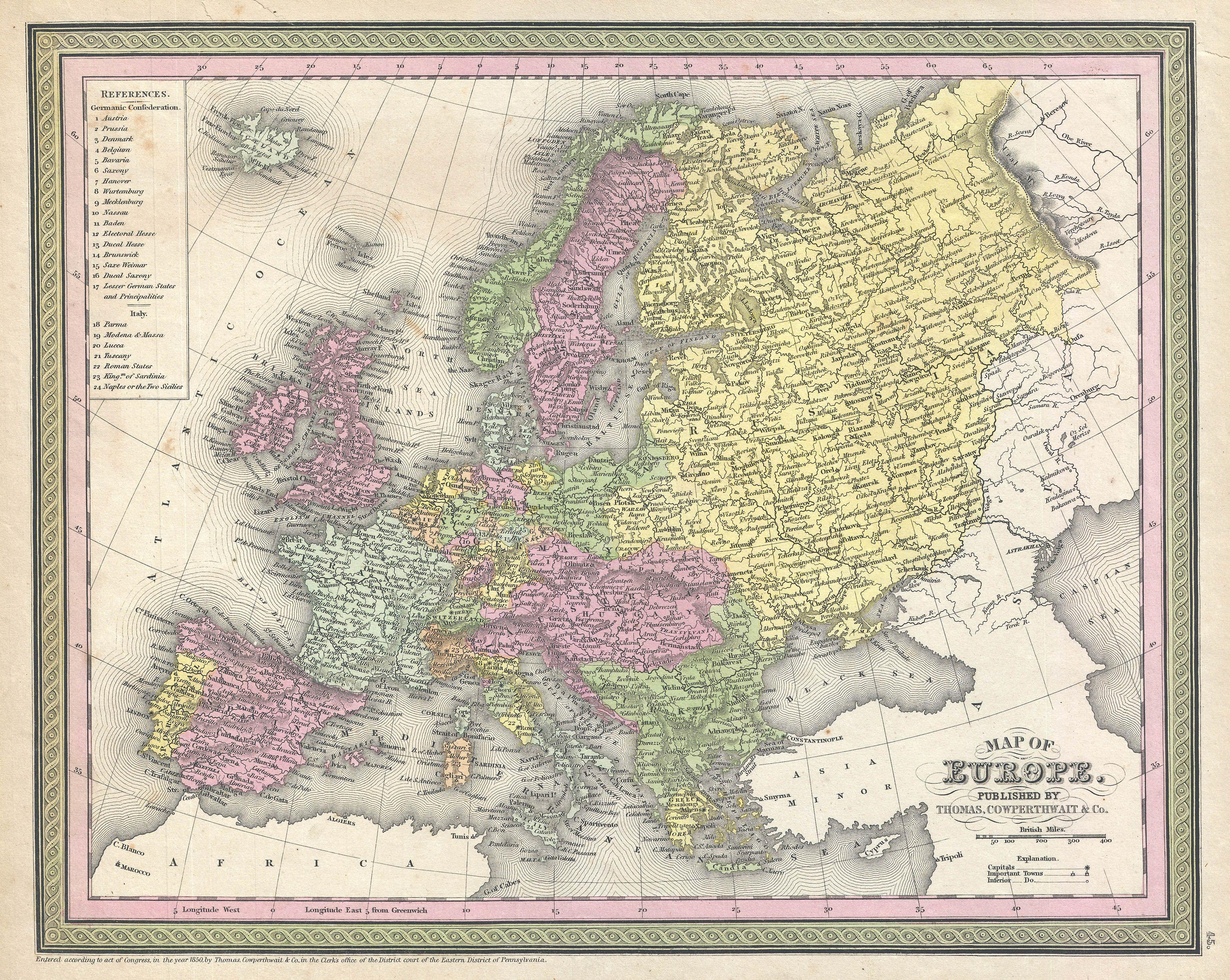 file1850 mitchell map of europe geographicus europe mitchell 1850