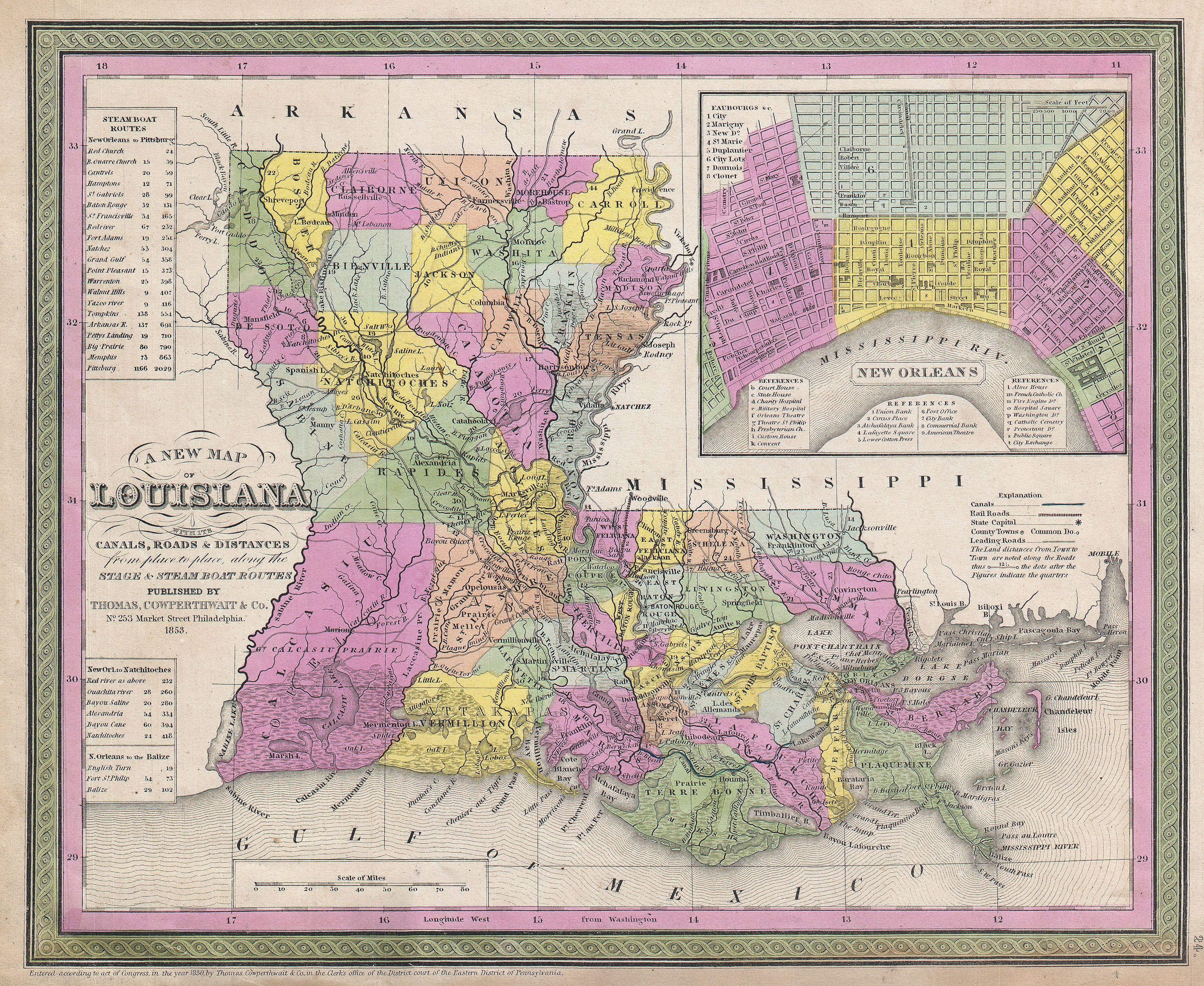 file1853 mitchell map of louisiana geographicus la mitchell 1850