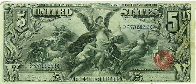 File 5 Silver Us Dollars 1896 Jpg