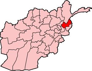 Map showing Nurestan province in Afghanistan