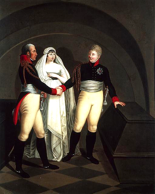 File:Alexander I, venerates the mortal remains of Frederick the Great in  presence of King Frederick William III and Queen Louisa.PNG - Wikimedia  Commons