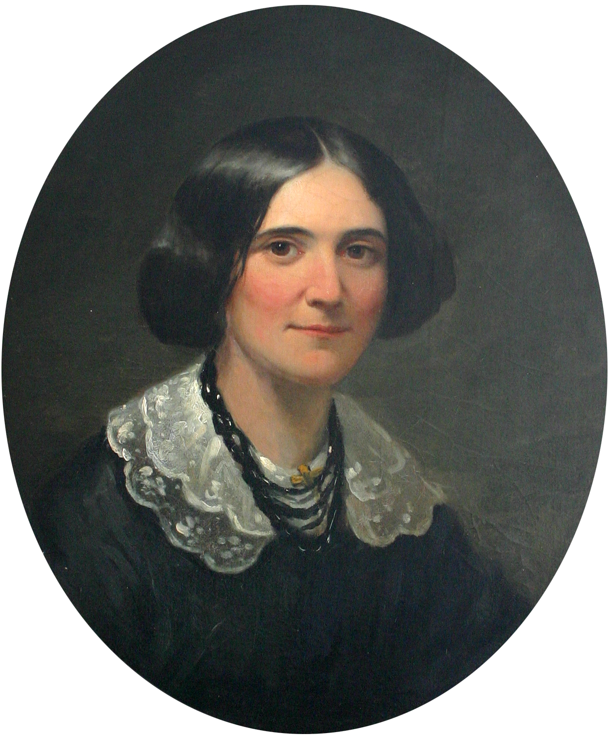 1850 portrait of Alice Cary in New York City which hangs in her childhood home in [[North College Hill, Ohio