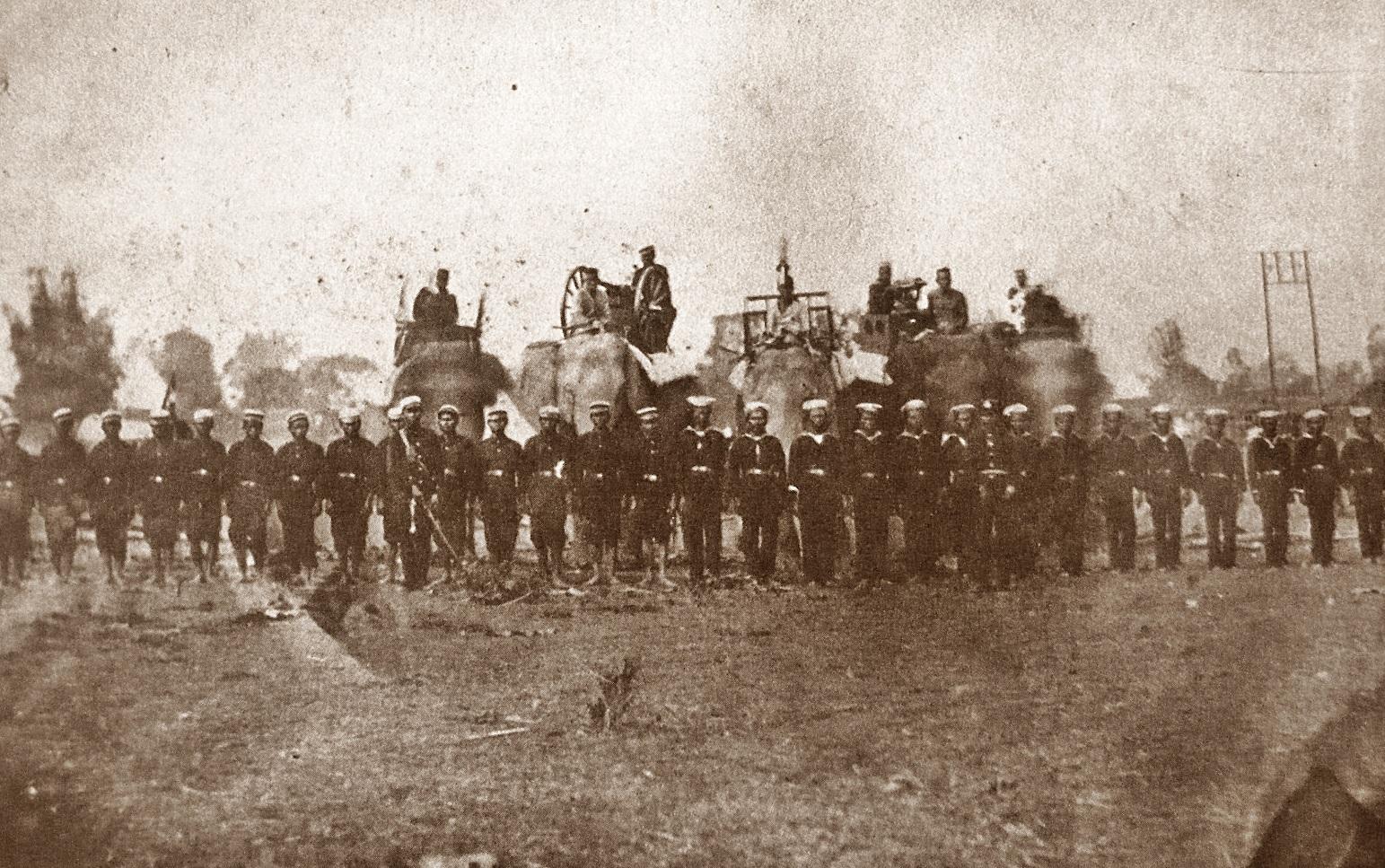 Description army of thailand in haw wars 1875