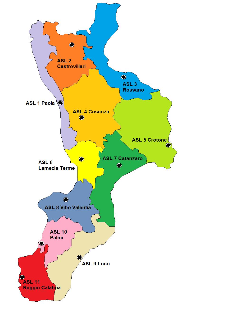 Cartina Geografica Della Calabria Fisica.File Asl Calabria 2007 Png Wikipedia