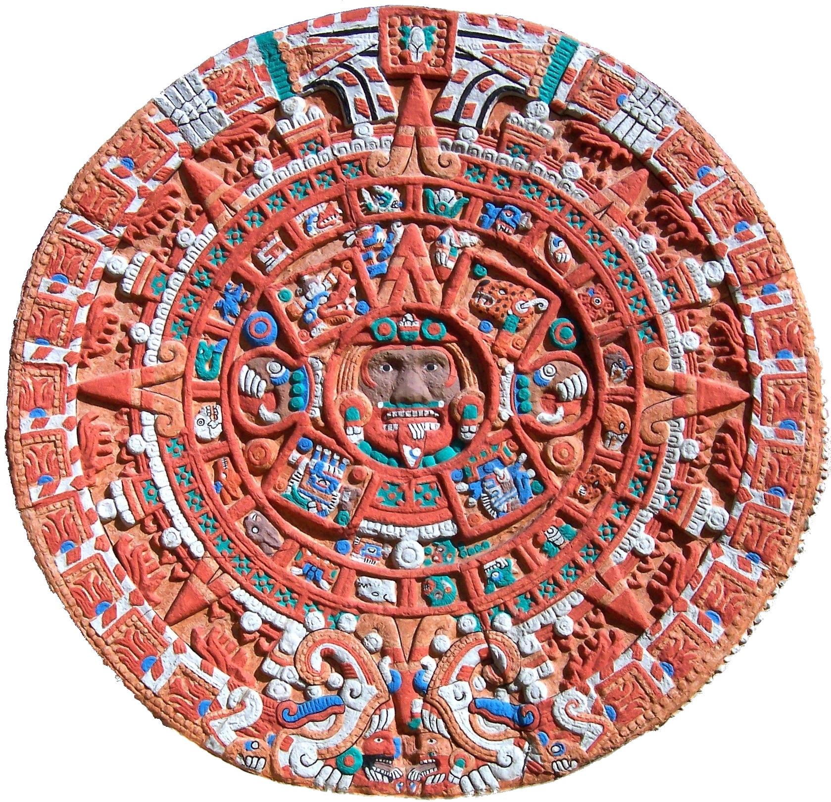Civ Calendario.File Aztec Sun Stone Replica Cropped Jpg Wikimedia Commons
