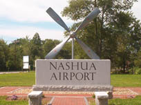 Entrance of Boire Field, Nashua's airport
