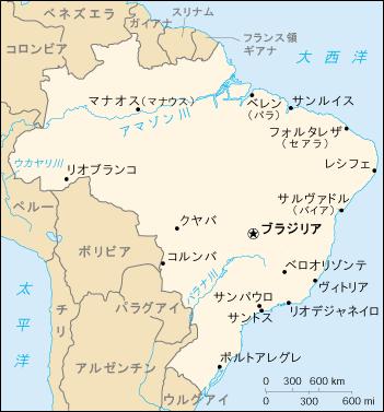 Brazil map ja