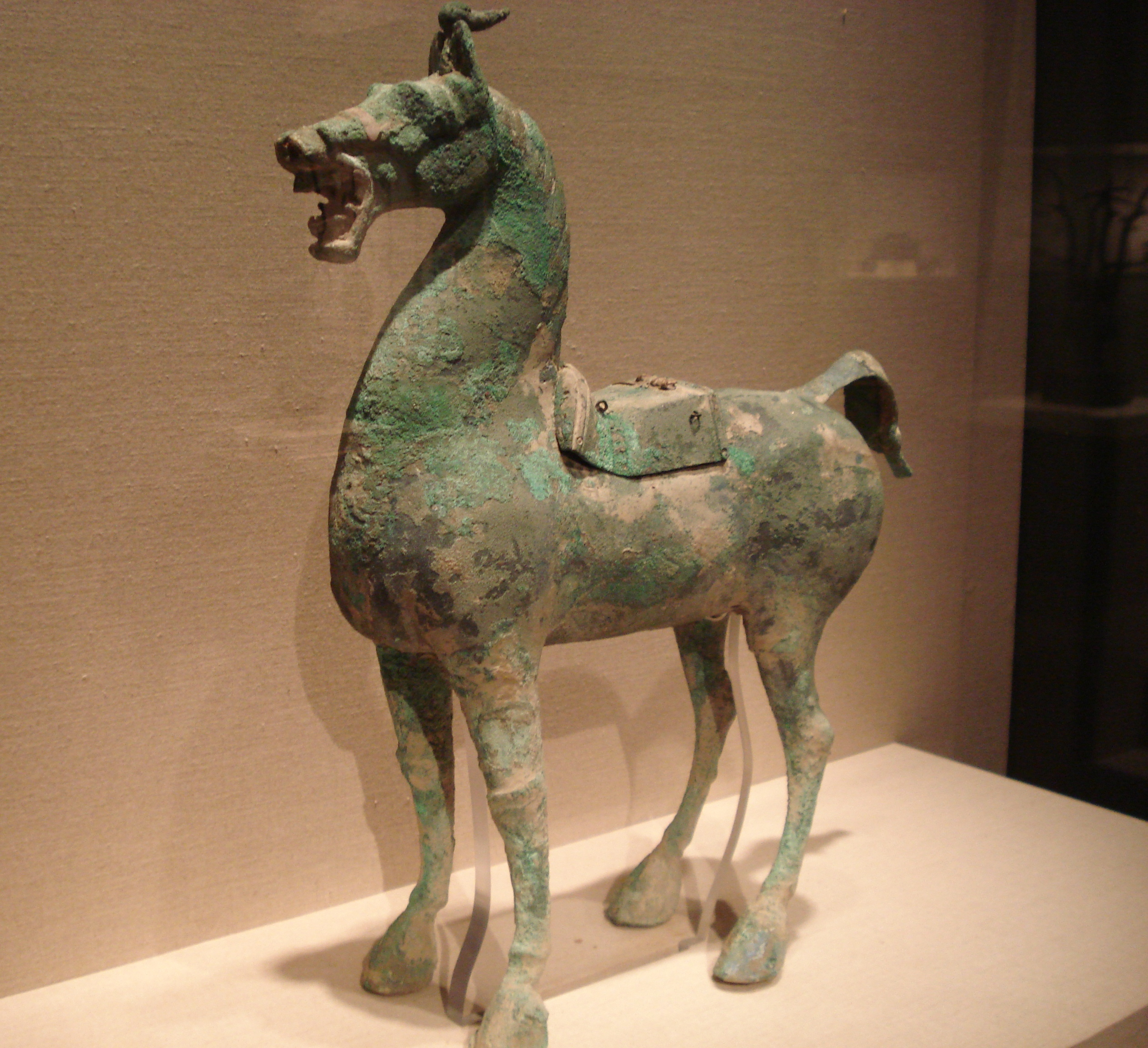 File:Bronze horse with...