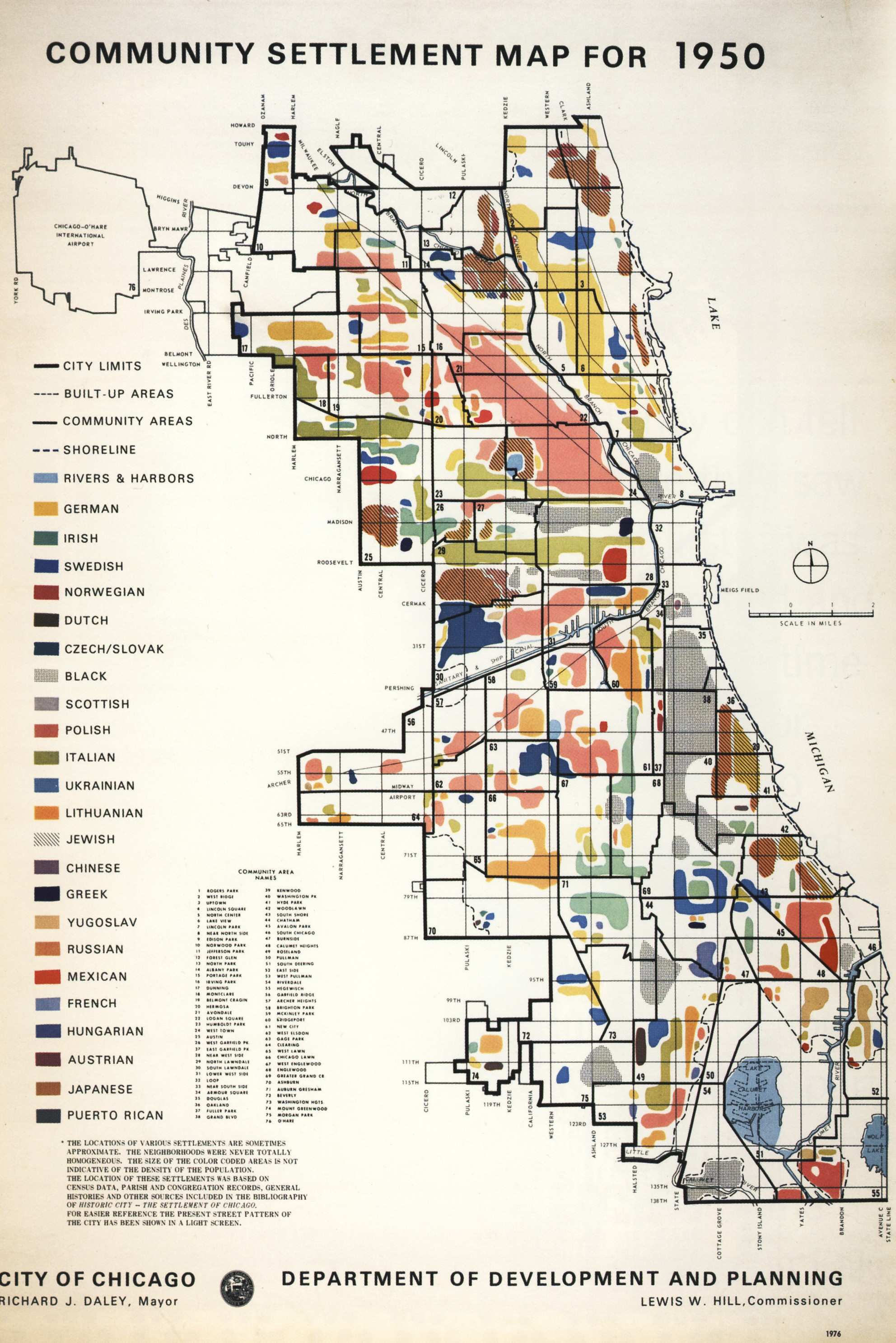 American Ethnicity Map 1950 Ethnic Map of Chicago