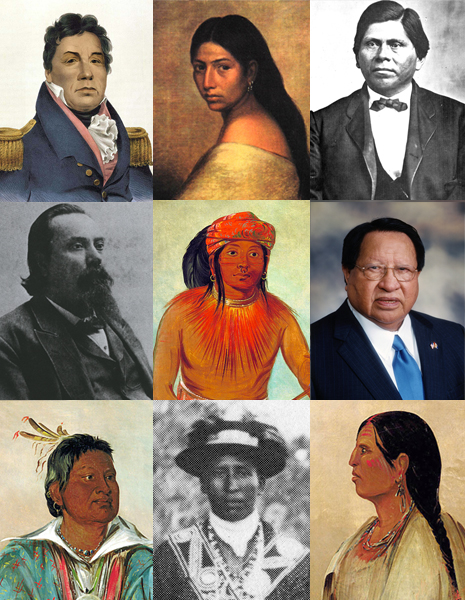Collage of Choctaw images
