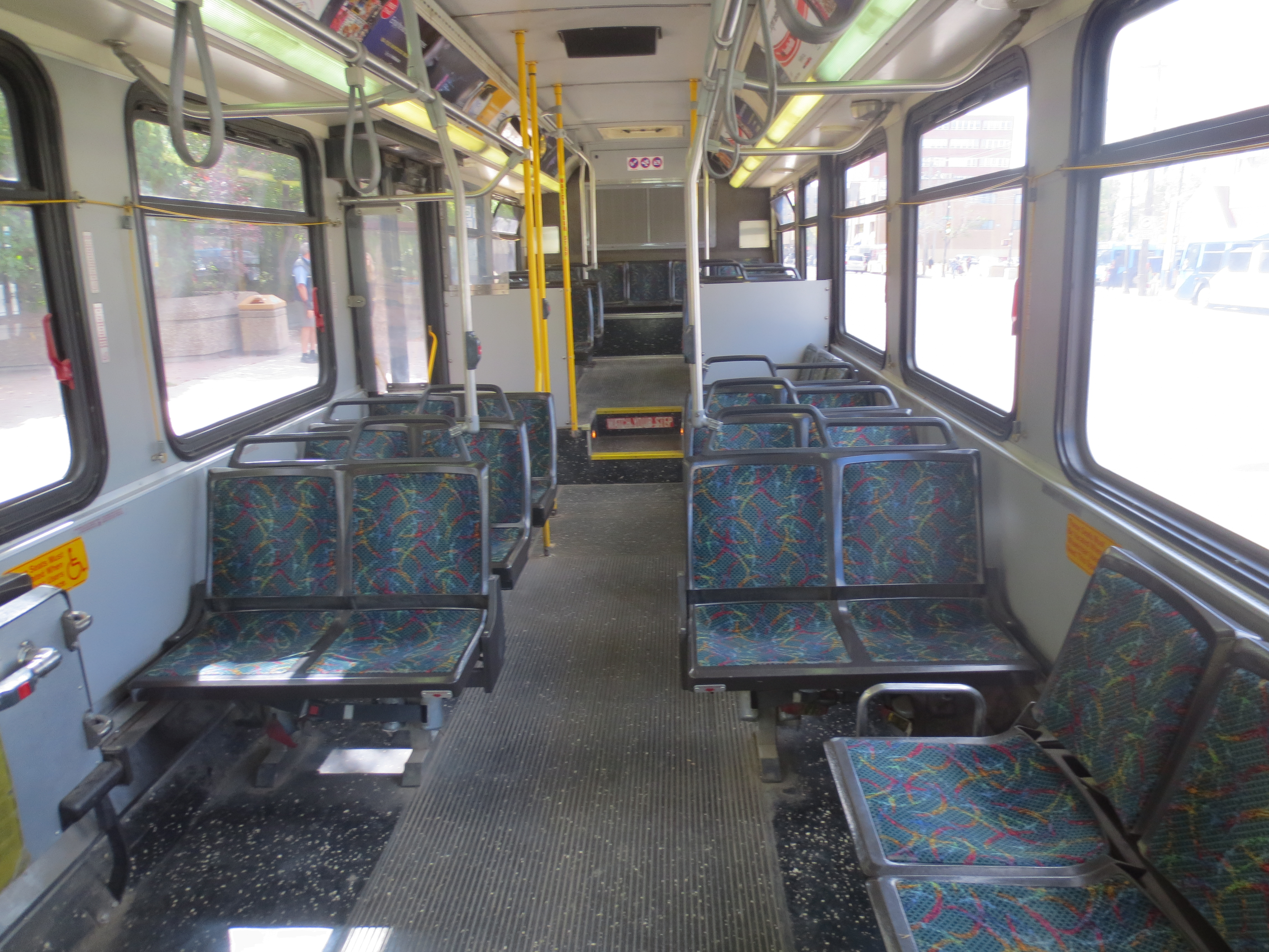 Interior View Of A Typical Bus In August 2014