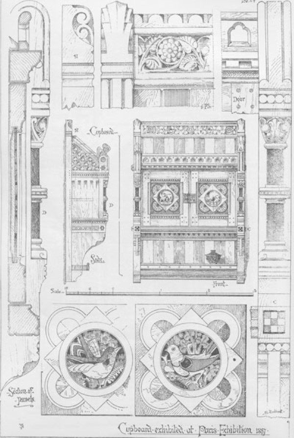 File:Cupboard Exhibited At Paris Exhibition 1867 Gothic Forms