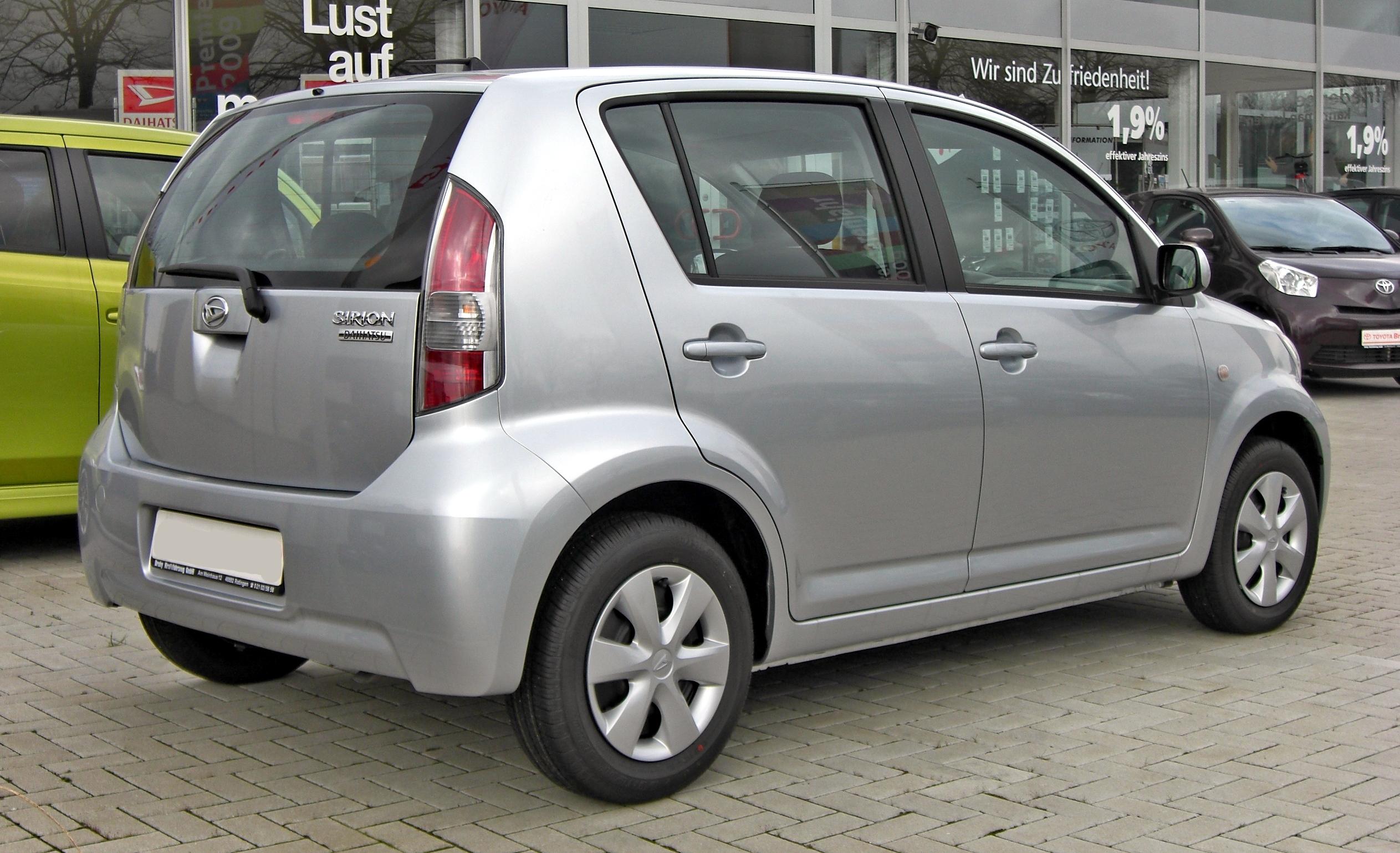 File:Daihatsu Sirion Facelift 20090314 Rear.jpg