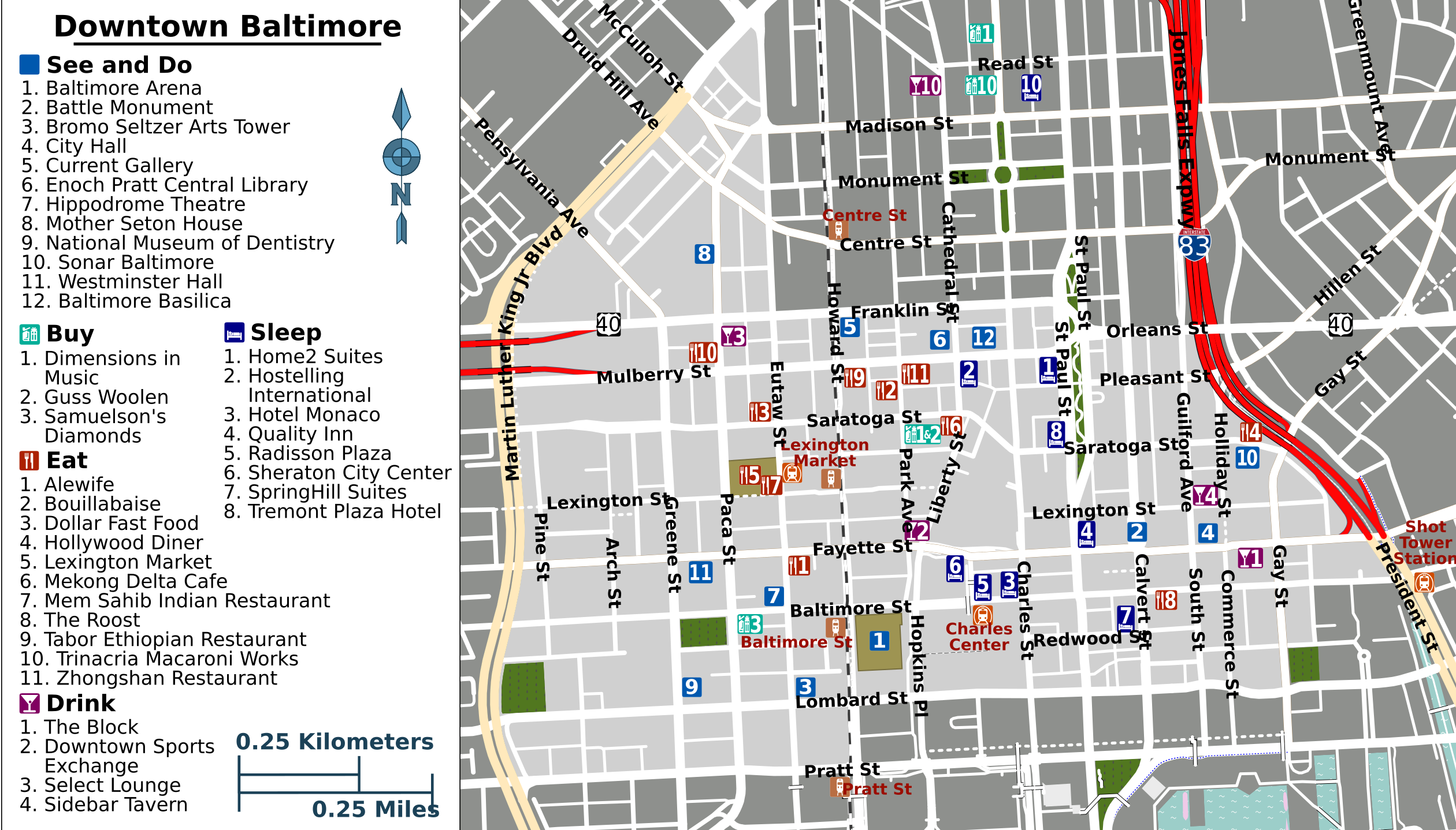 Downtown Baltimore Map File:Downtown Baltimore map.png   Wikimedia Commons