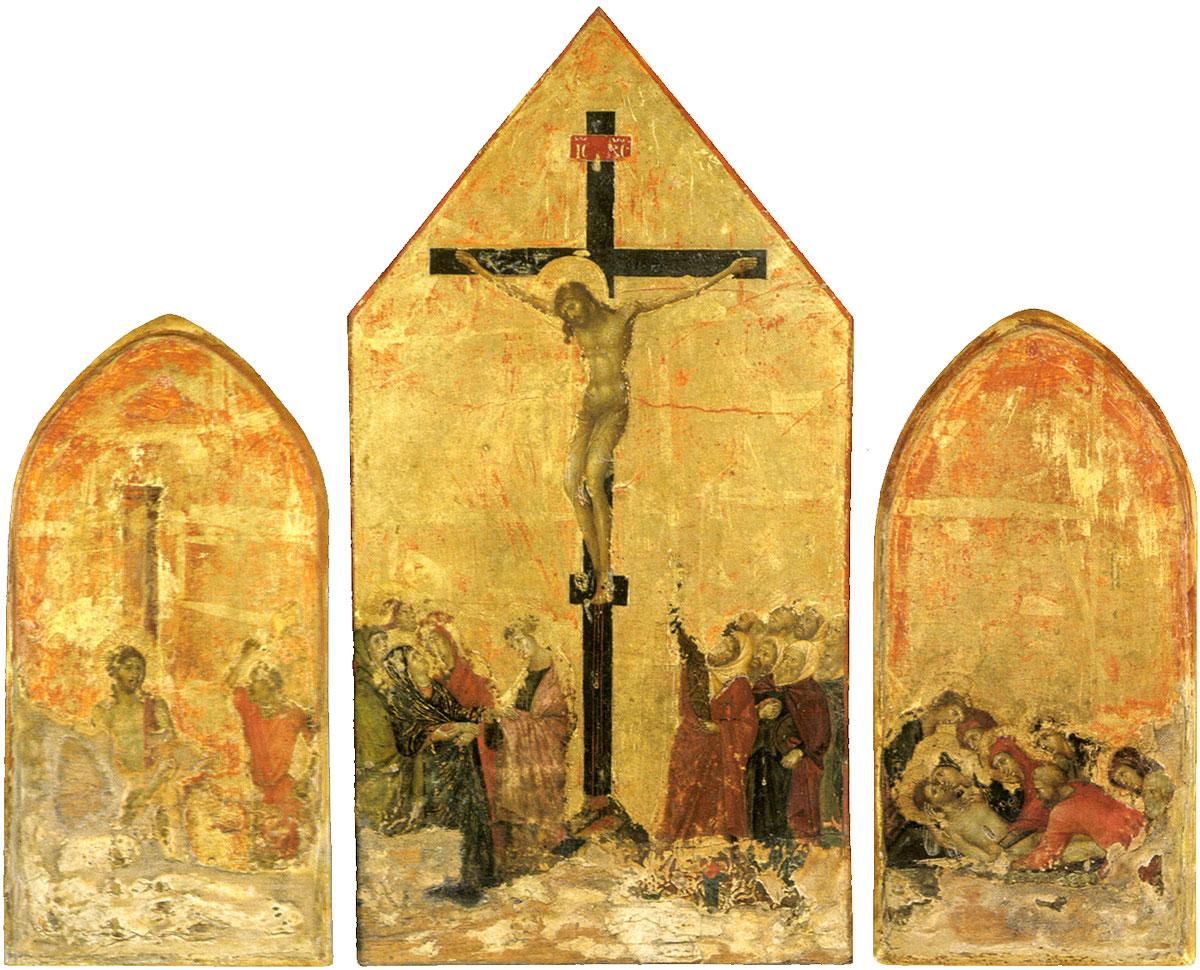 Duccio di Buoninsegna, Crucifixion Triptych., c. 1295-1310, Museo della Societa di Esecutori di Pie Dispozisioni