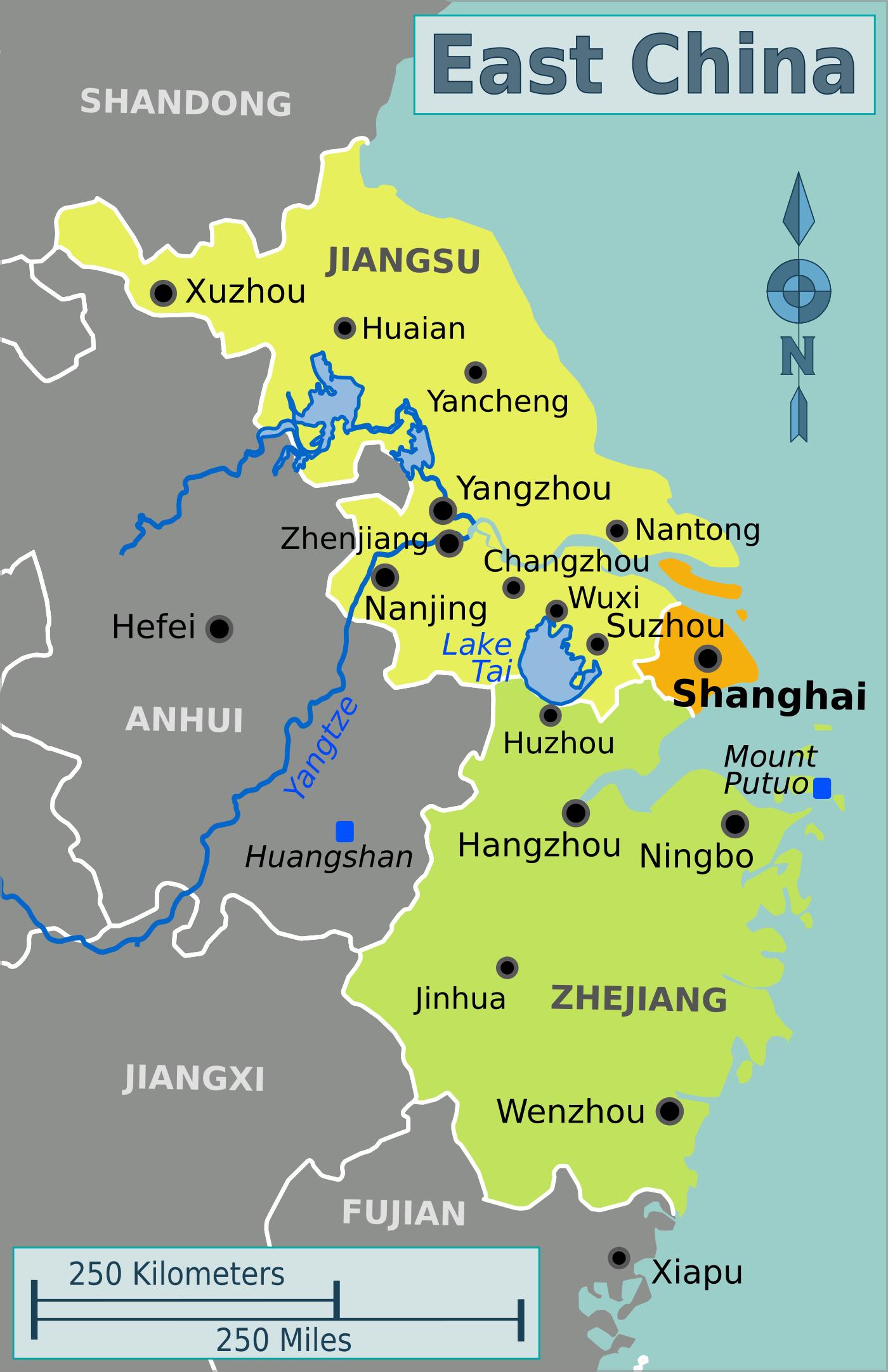 FileEastChinapng Wikimedia Commons - Huaian map