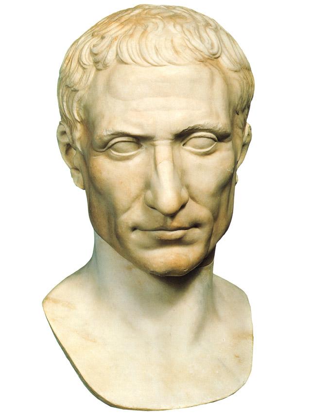 Busto de Cayo Julio César forjador grandeza Imperio Romano