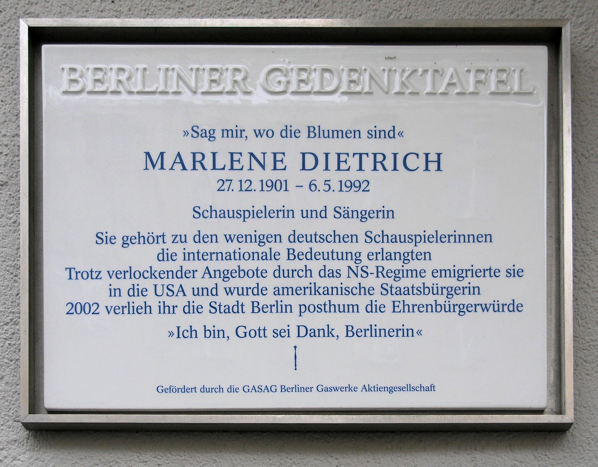 Datei Gedenktafel Leberstr 65 Schöb Marlene Dietrich JPG –