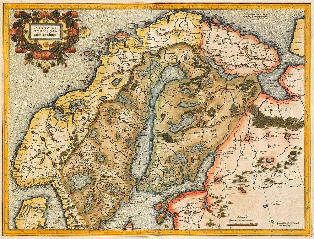 FileGerhard MercatorSvecia Et Norvegia Cum Confinys Jpg - Norway map jpg