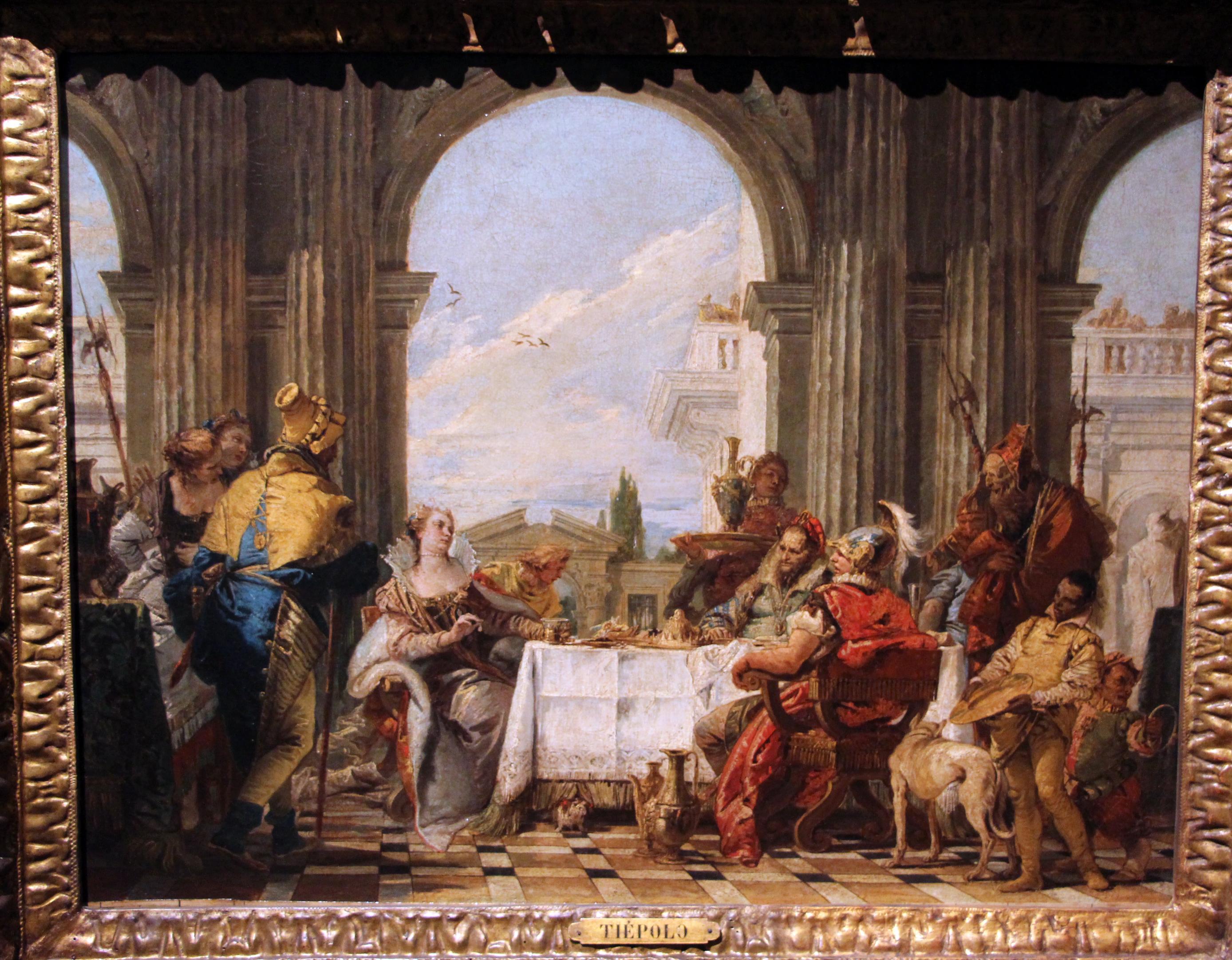 File:Giambattista tiepolo, il banchetto di cleopatra, 1742-43, 02.