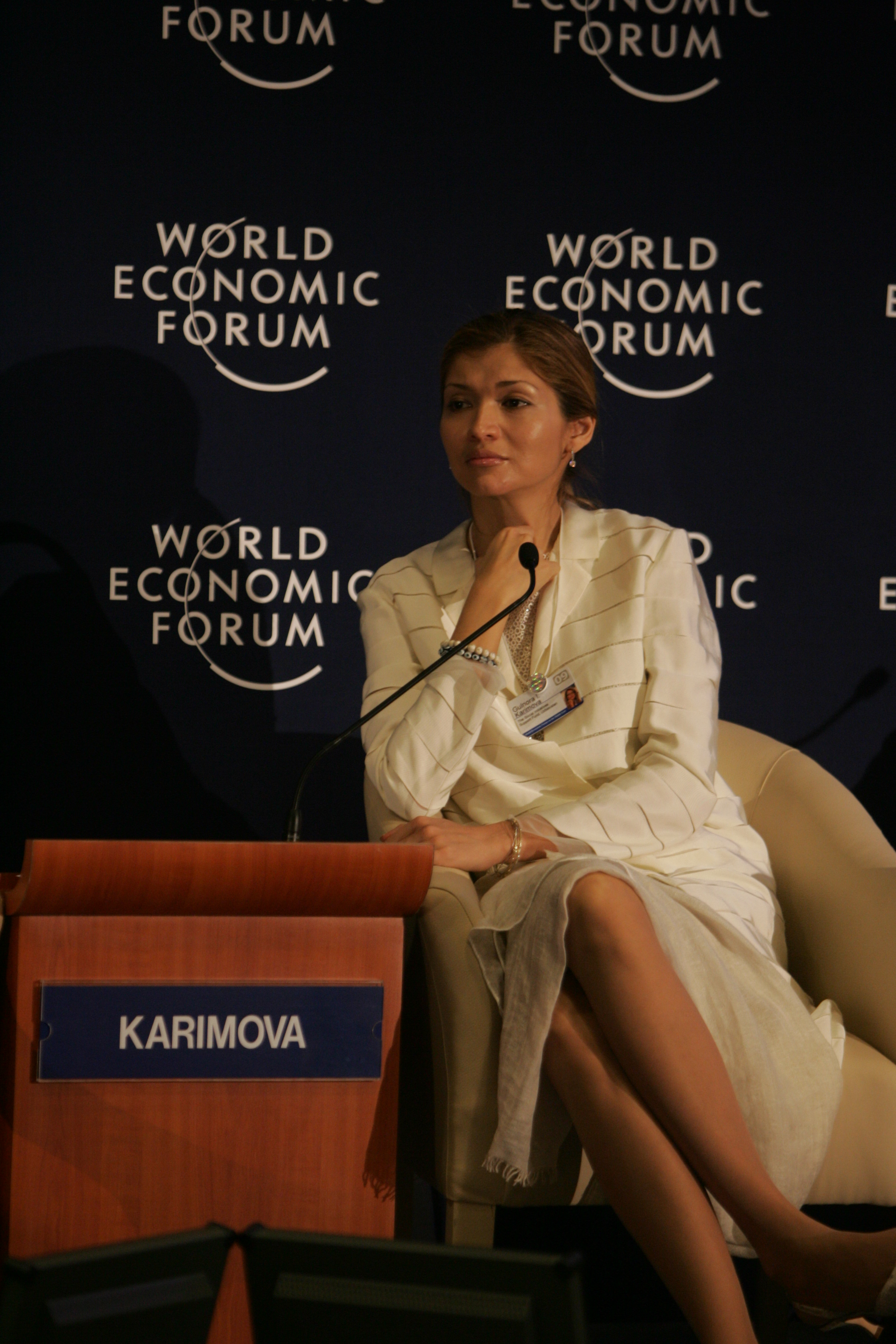 Gulnara Kerimov Dünya Ekonomik Forum'unda - wikipedia
