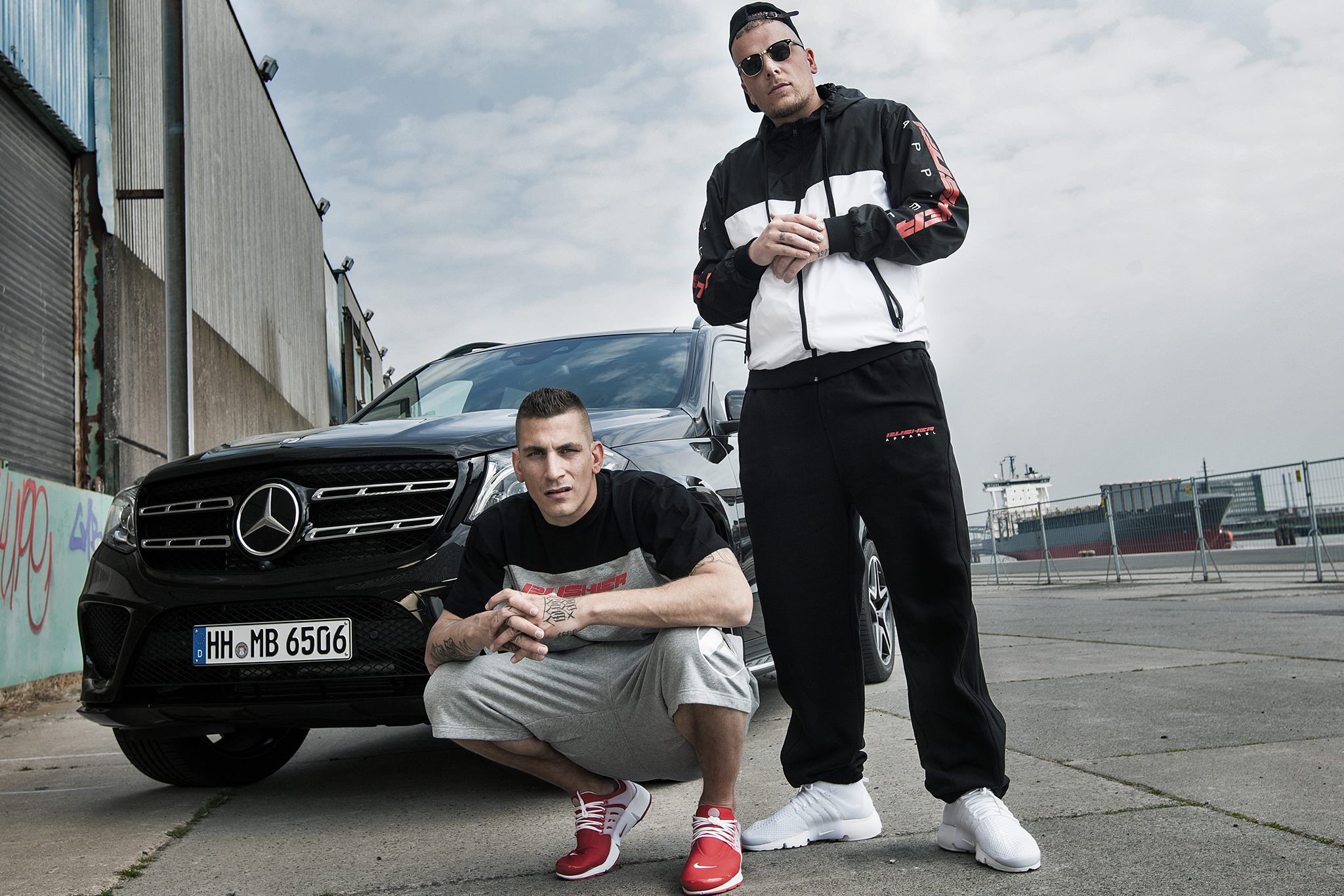 Gzuz (left) and Bonez MC (right), major members of 187 Strassenbande