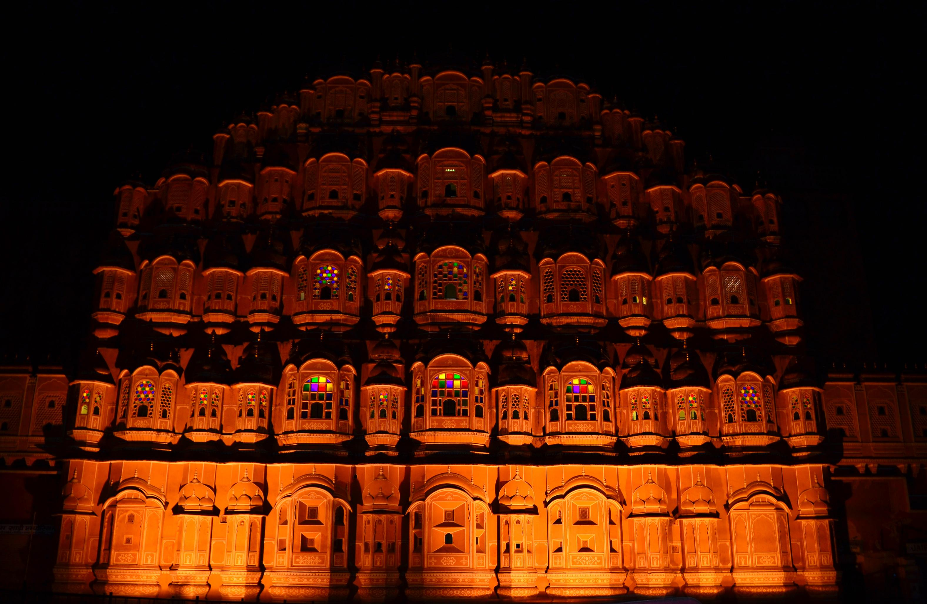 Image result for hawamahal at night