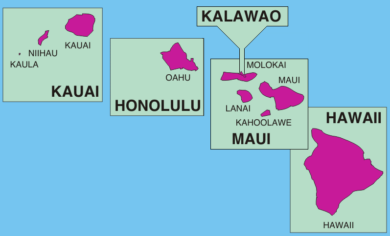 Island Names Hawaii Map