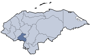 Location of La Paz department