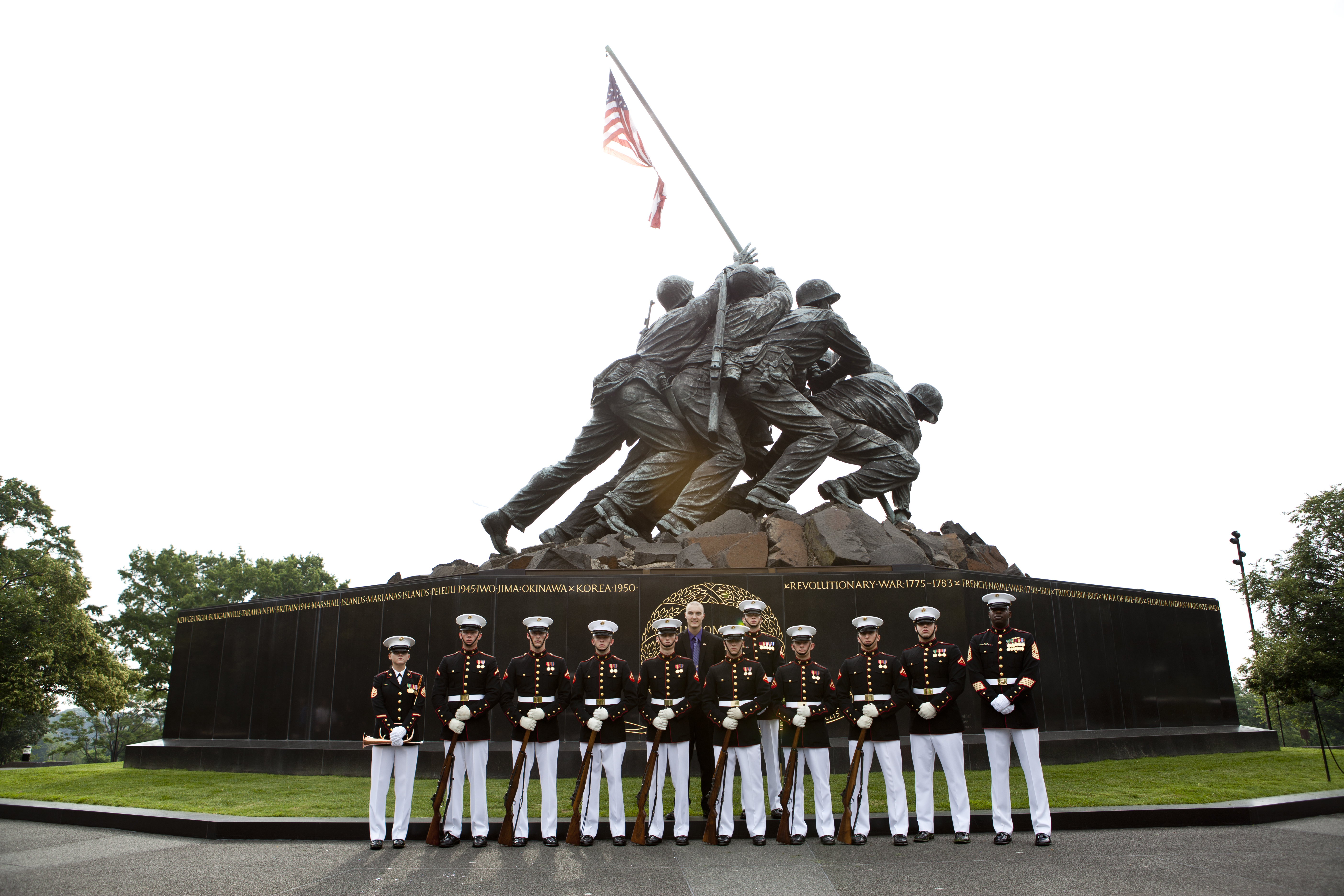 File:Honorary Marine Daran Wankum, center rear, poses for ...