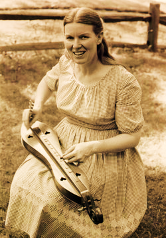 Ritchie playing the dulcimer, c. 1950s