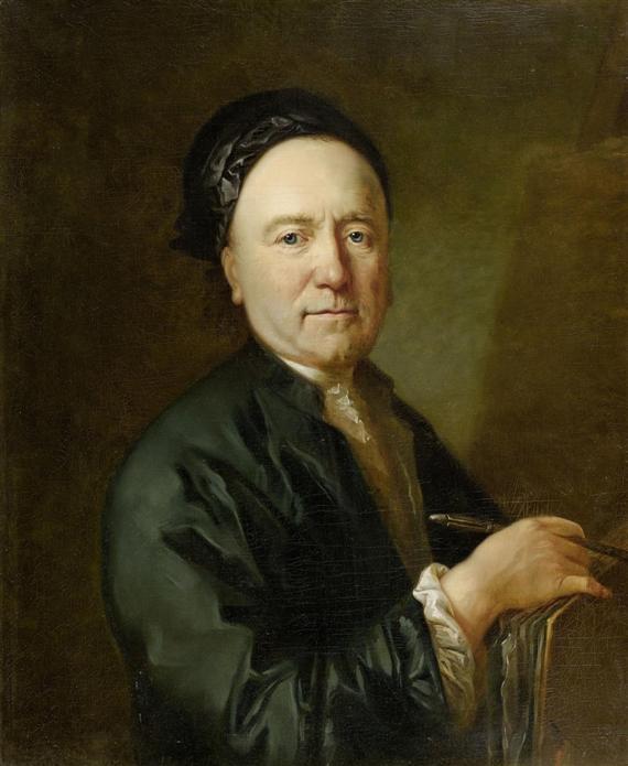 Johann Caspar Füssli&#x3B; portrait by [[Anton Graff