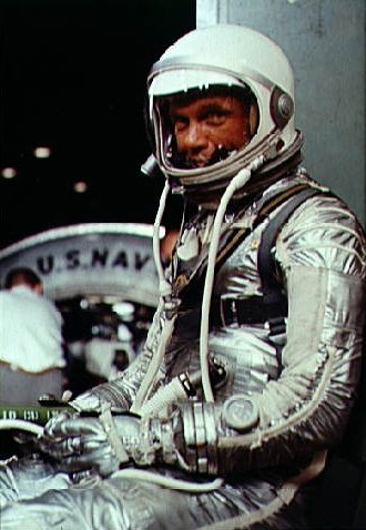 John Glenn in his Mercury pressure suit