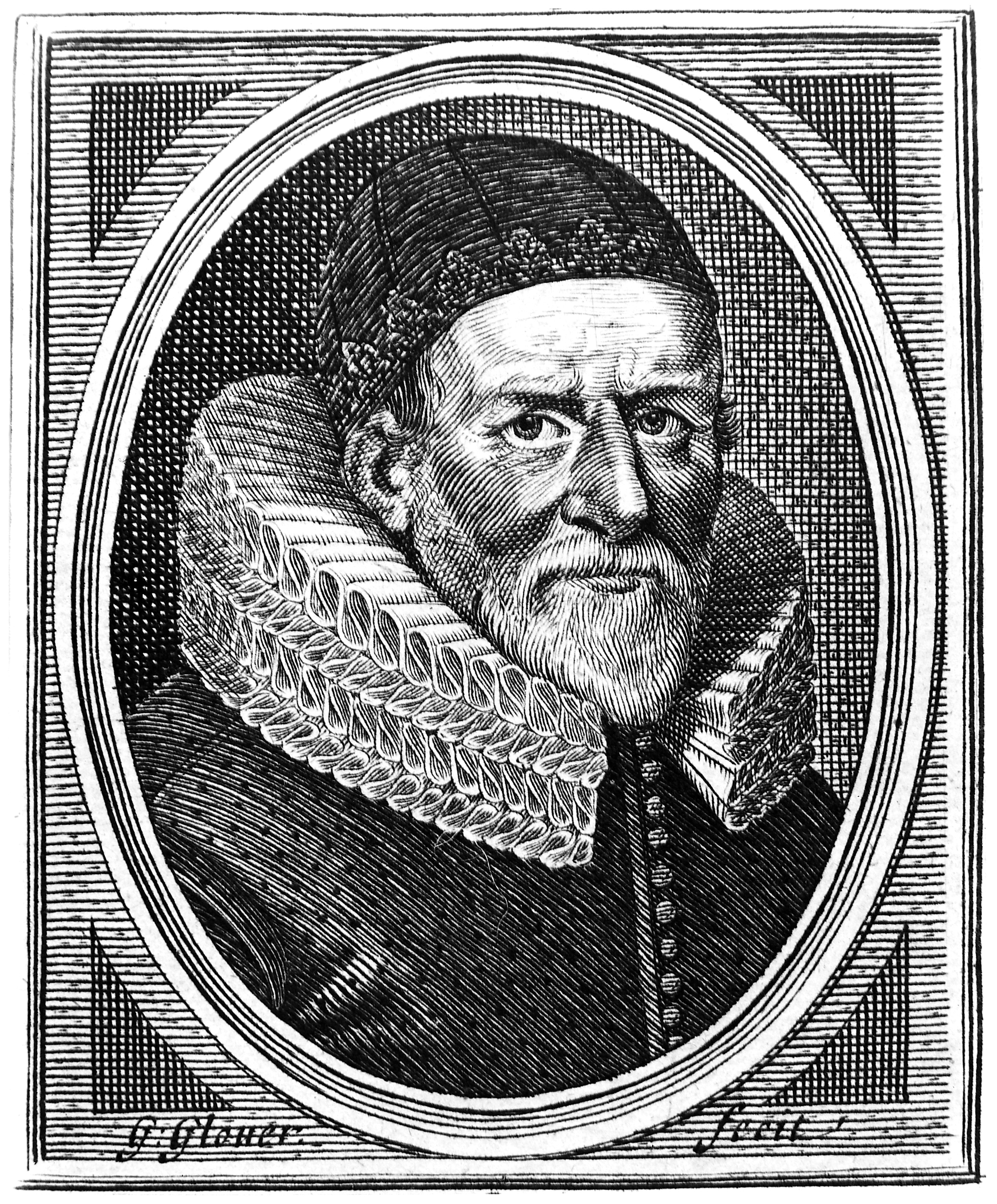 Line engraving by G. Glover, 1639. Wellcome M0005676