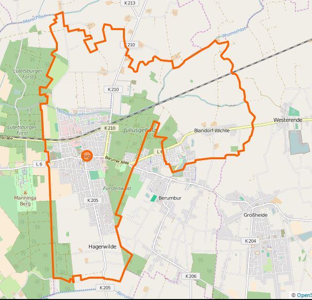 File Karte Blandorf Wichte Ortsteil Des Fleckens Hage