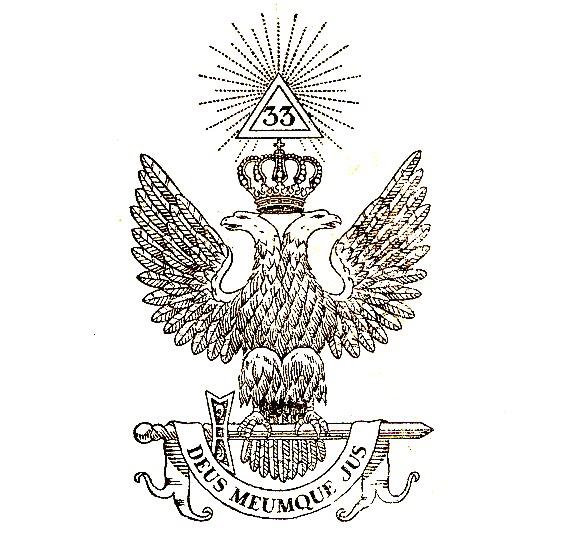 L'Aigle à deux têtes, emblème des hauts grades maçonniques du Rite écossais ancien et accepté.jpg