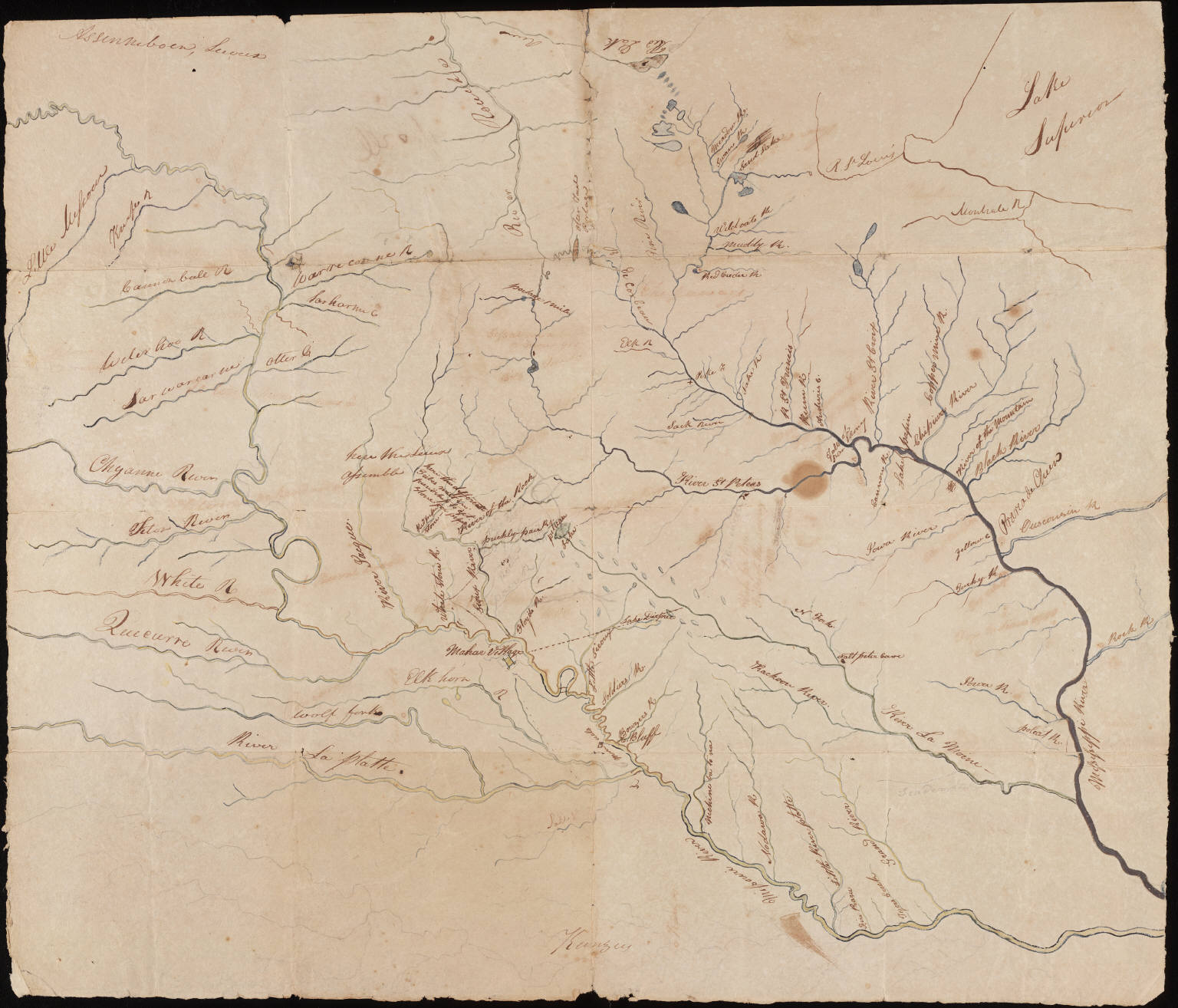 A map from the Lewis and Clark Expedition (Courtesy of Yale University Library via Wikimedia Commons).