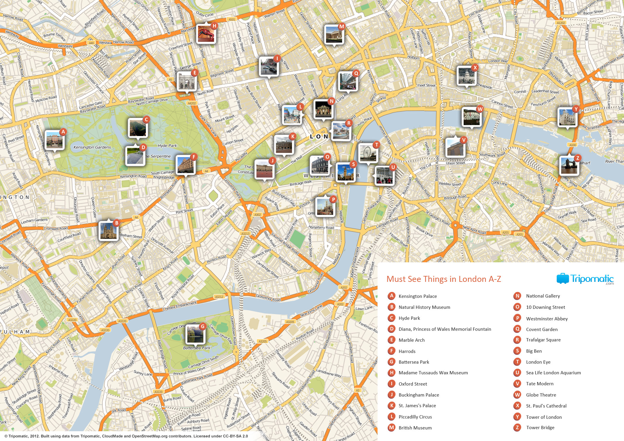 FileLondon printable tourist attractions mapjpg Wikimedia Commons
