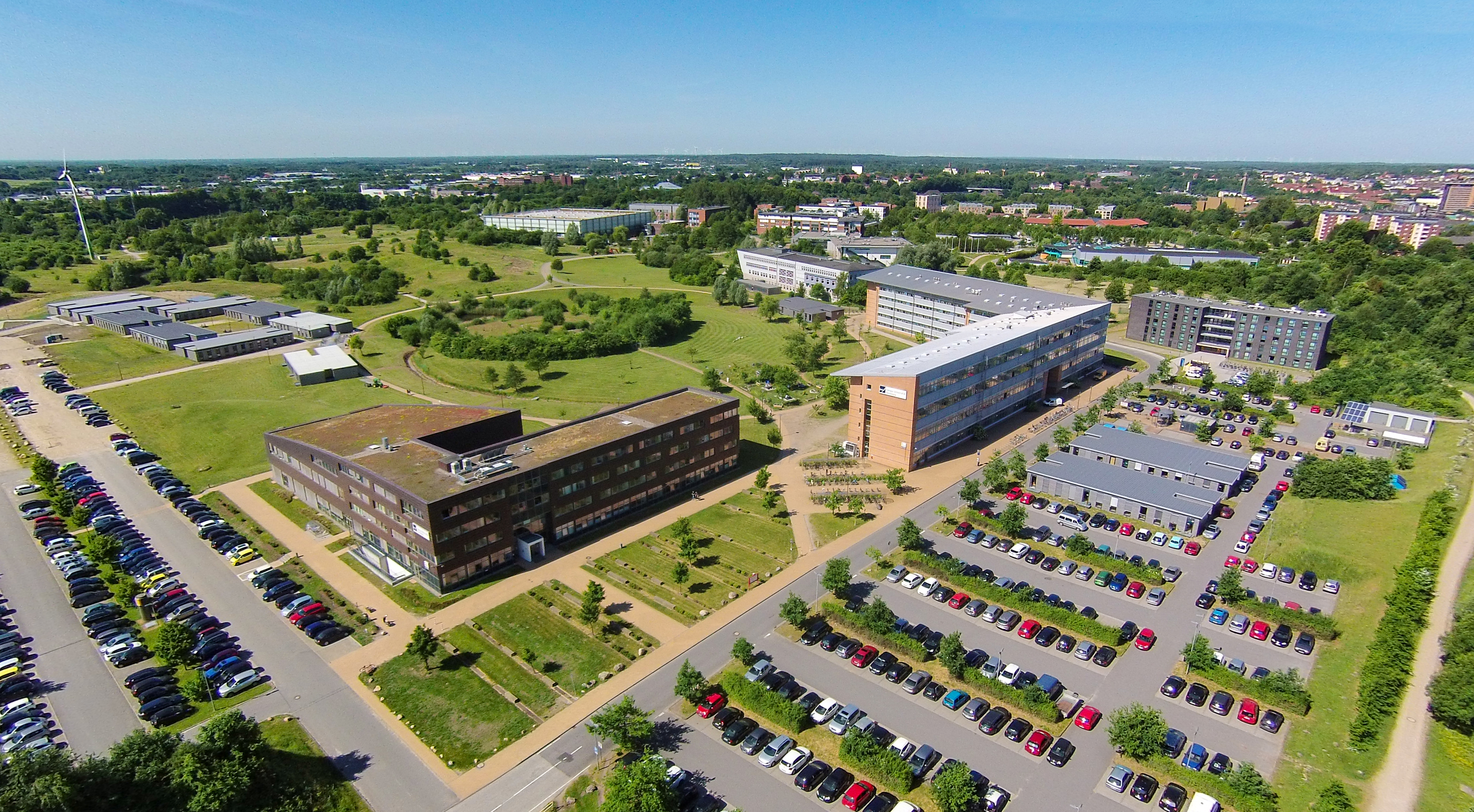 Luftaufnahme des Flensburger Campus