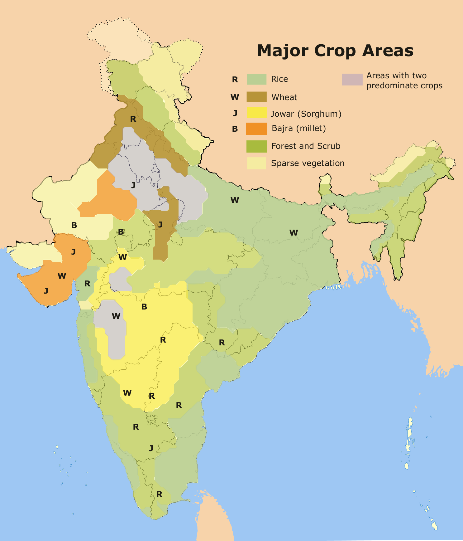 major crop agriculture map of india File Major Crop Areas India Png Wikimedia Commons major crop agriculture map of india
