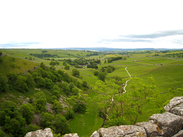 Malhamdale, the view from atop Malham Cove - geograph.org.uk - 845172